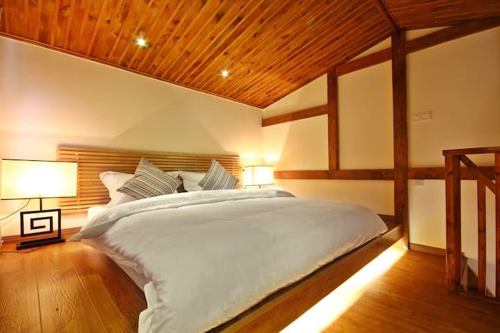 乐宿·雪山村Snow Mountain Village山景跃层1室1厅民宿【可感知的温度】