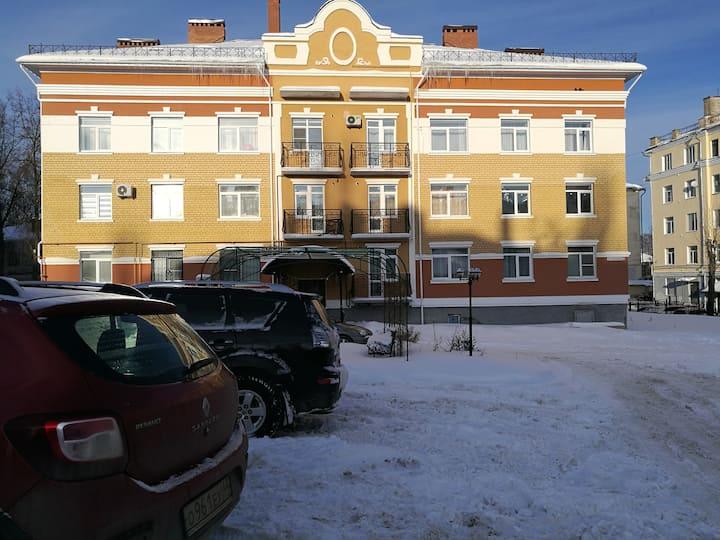 Квартира в самом центре в 12 кв новом доме с АОГВ