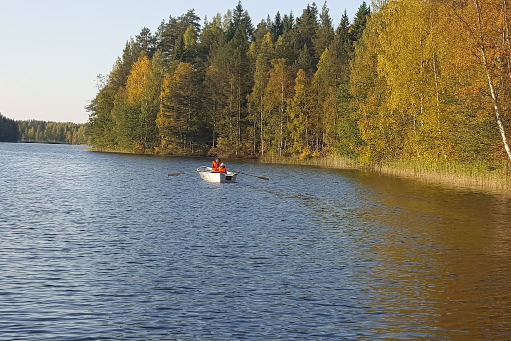 You can use our rowing boat whenever you like