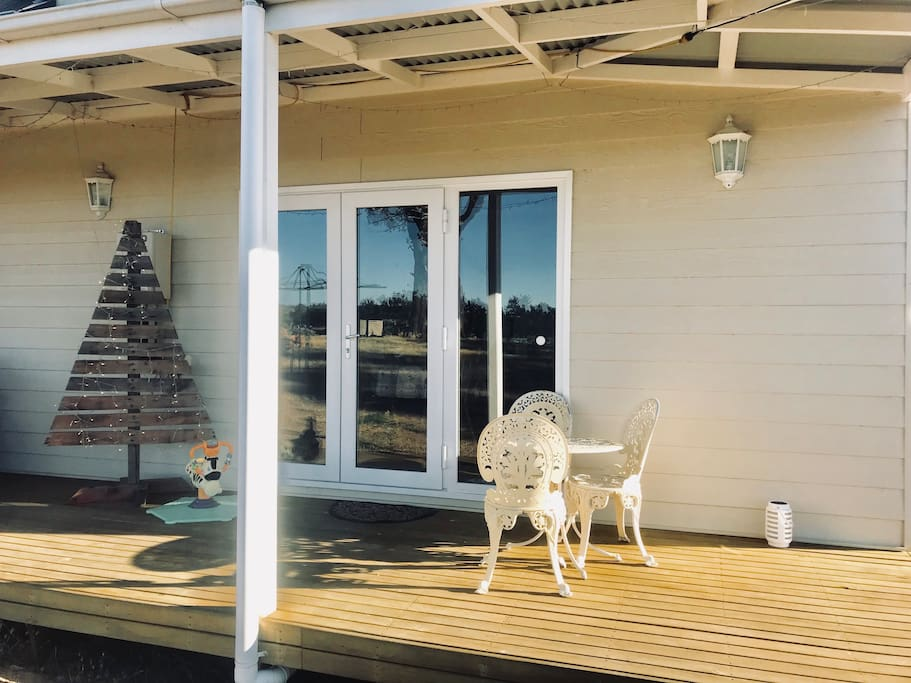 Christmas in the countryside  - Relax on the deck with a glass of red!