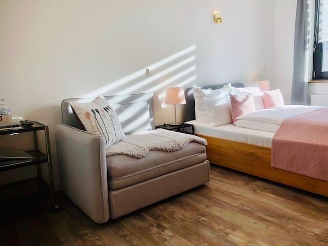 Kailash Guesthouse | Doppelzimmer | Bad im Flur
