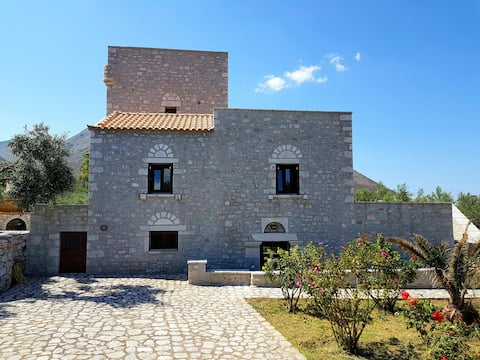 Stone tower villa at Mina
