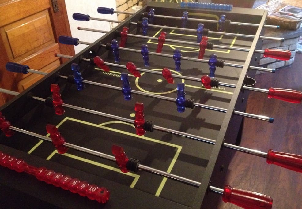 Who's ready for some foosball action? Your biggest problem is going to be to decide which game to play first. Your next problem is going to be trying to find time to sleep instead of playing all the games.