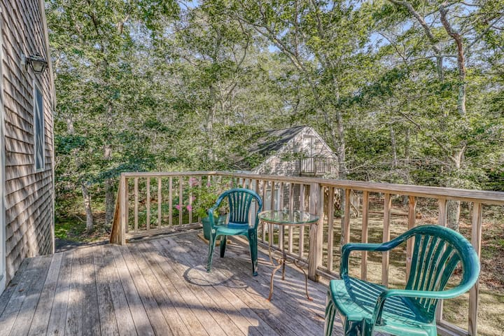 Tree-lined apartment w/ deck - close to state forest, beaches & much more!
