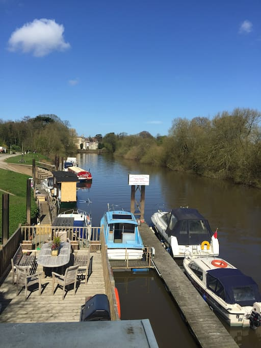 Fabulous views from the main deck of the river, surrounding area and of Bishopthorpe Palace