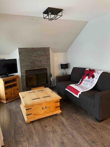 Salon avec divan lit