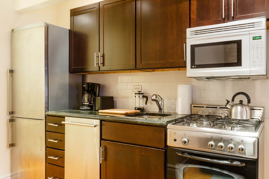 Our full service kitchen has everything you need during your stay.