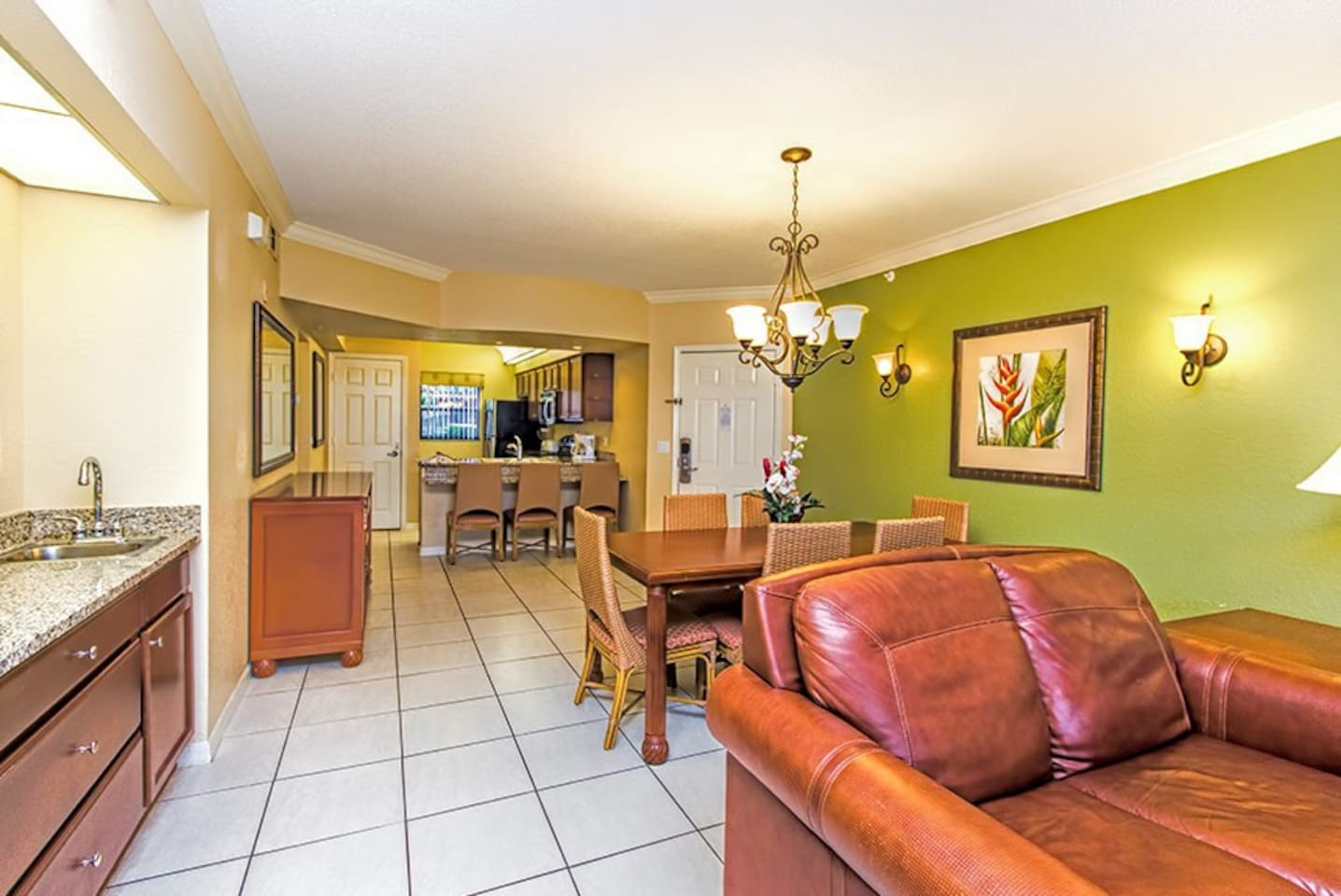 This is a 3 bedroom unit that is a 2 bedroom with a studio apartment lockout.
