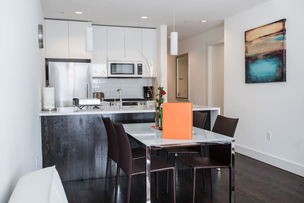 Open Concept Kitchen and Dining Area