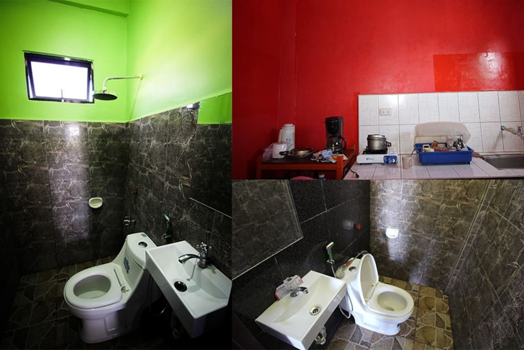 Toilet 1 & 2, Kitchen