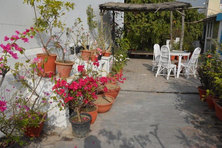 ☞Great independent terrace studio