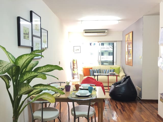 super nice 4p,2 Fashion room close to all central - Bangkok - Leilighet