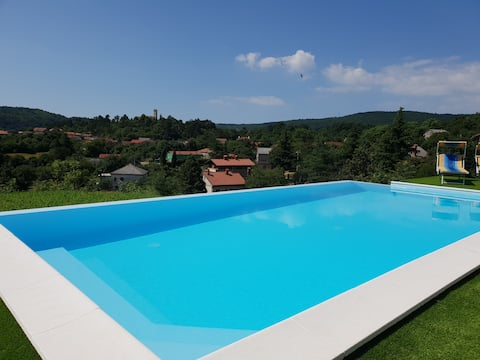 Luxury holiday villa infinity pool gym and jacuzzy