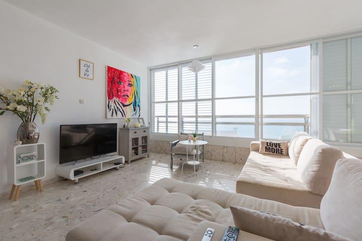 Appartement spacieux et standing face à la mer - Netanya - Bed & Breakfast