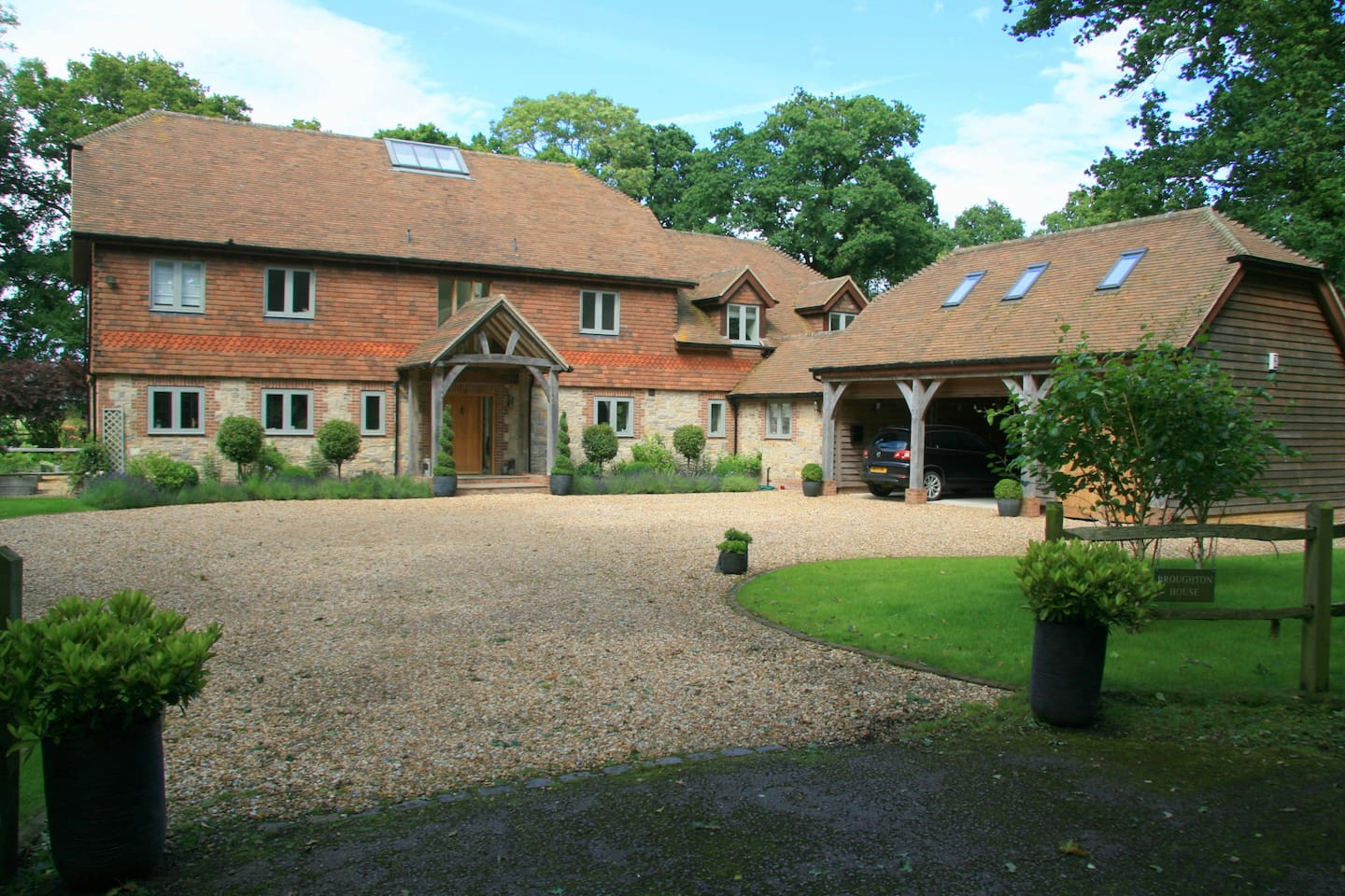 The room is in the annexe, which is above the garage and separate from the main house.