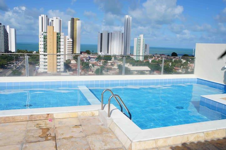 Lindo flat em Ponta Negra sem custos adicionais!