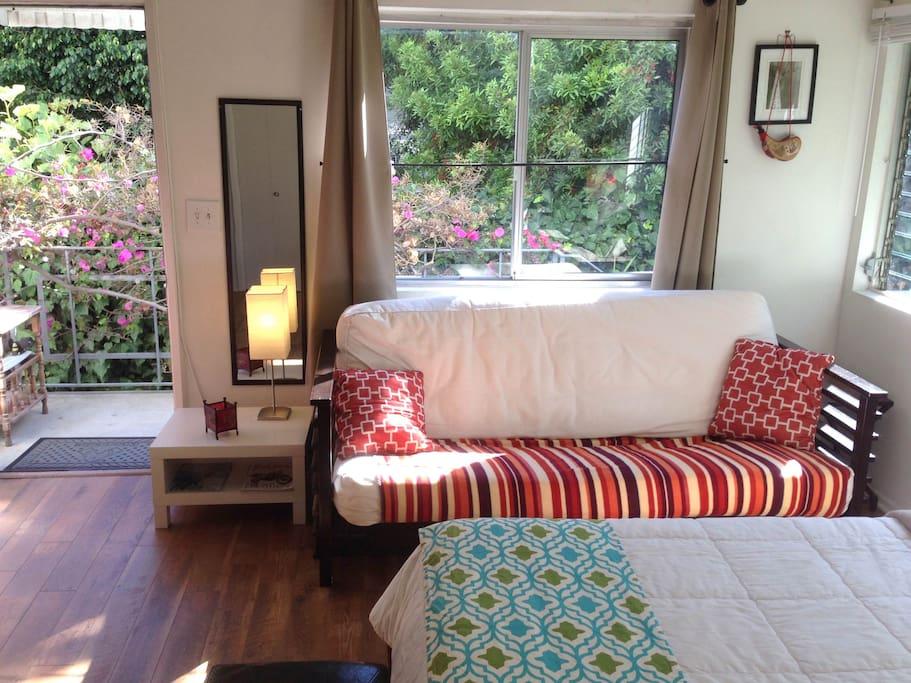 Natural California lit bungalow.