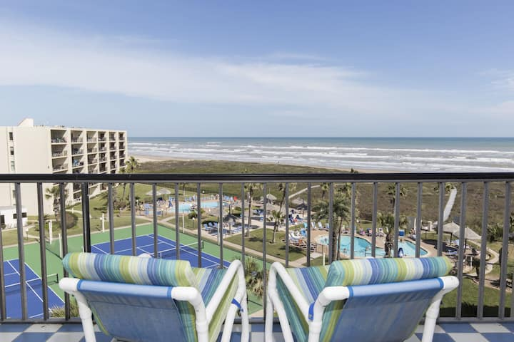 Beachfront 2 BR/2 BA Condo Sleeps 8 Pool -SA6