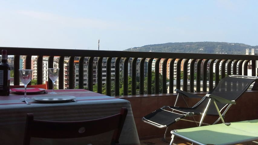 Charming apartment in penthouse, private terrace . - Donostia - Квартира