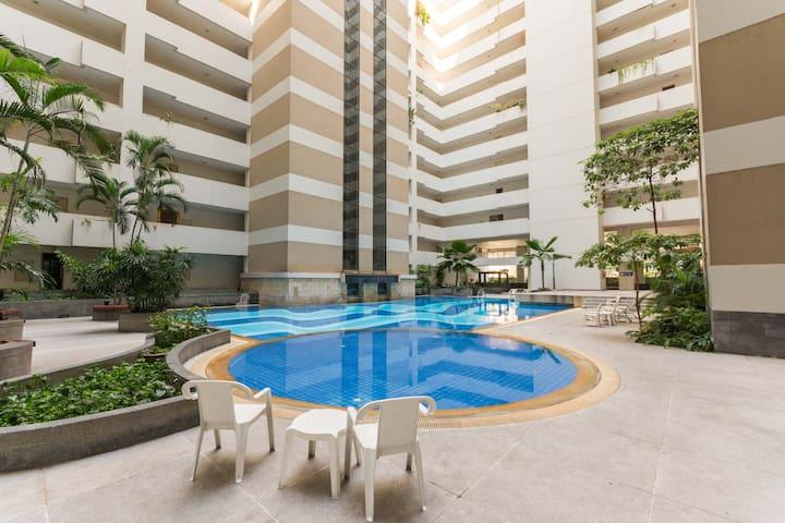 Down Town Family Suite Wifi Pool - Bangkok - Condominium