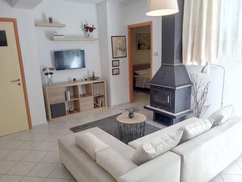Mysig lägenhet 15' från El Venizelos flygplats