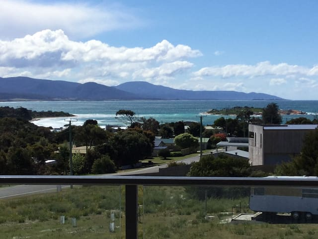 Ocean Views from deck with views of Diamond Island, Redbill Beach and the Sand bar.
