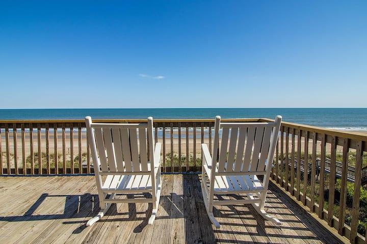 Sunny Oceanfront Family Beach House