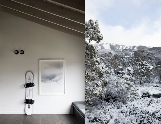 Luxurious cabin located in central Thredbo Village, on the banks of Thredbo River.