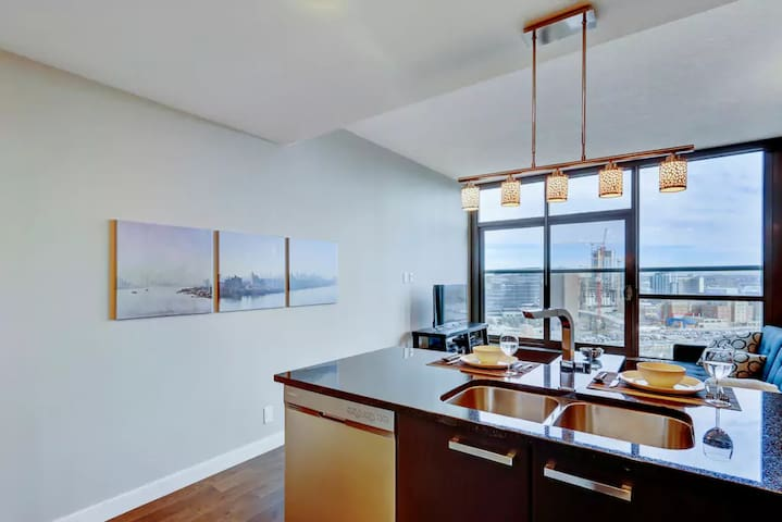 Enjoy the amazing view from the kitchen!