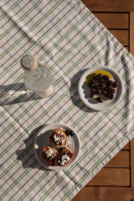 LOCAL PRODUCTS, SUN DRIED TOMATOES AND OUZO