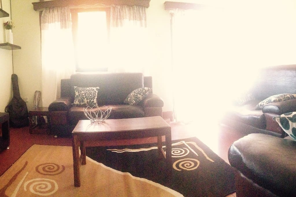 Cosy living area with Dstv