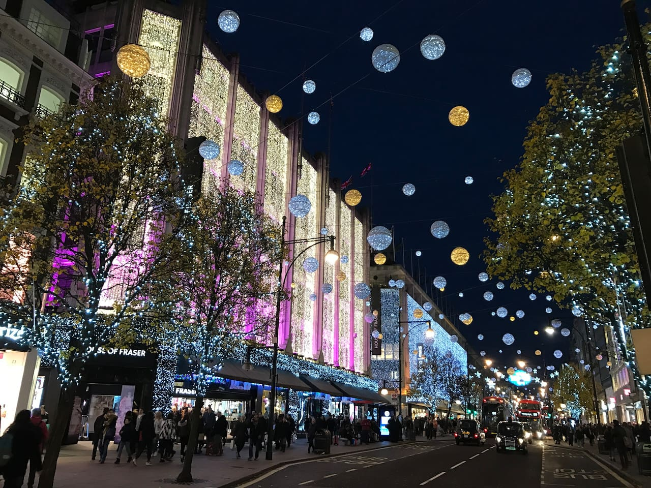 Oxford Street is seconds away from the flat!