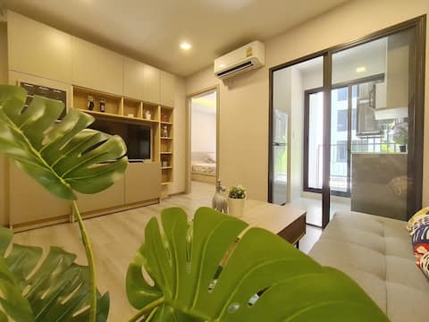 THE BREEZY GARDEN 1 BR @NONTHABURI/POOL/CHAOPRAYA