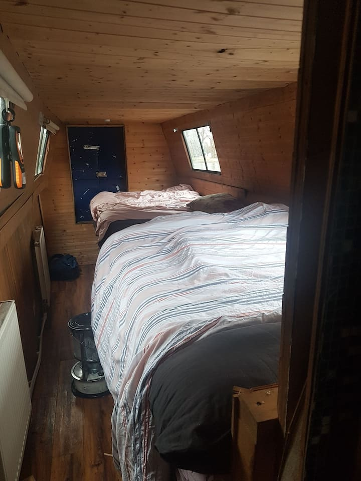 Double room on narrowboat