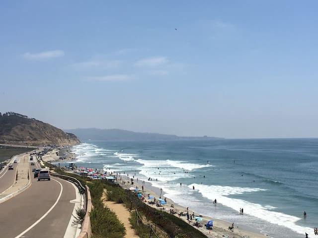 Torrey Pines State Beach - steps from your home walking under the road