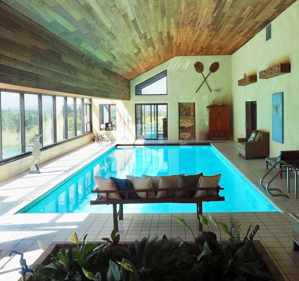Full size indoor pool available for guest use