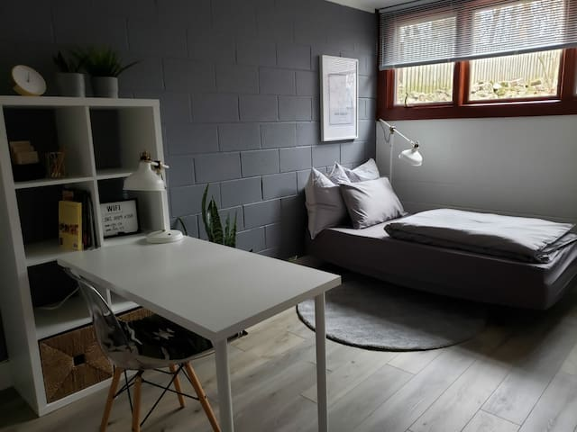 office with sofa bed