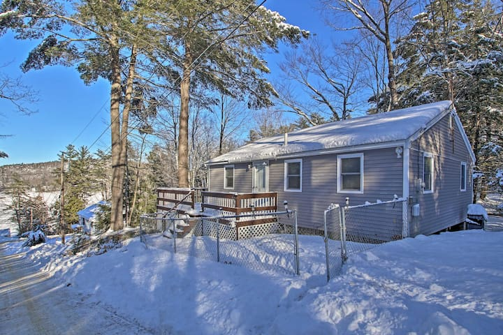 This hillside cottage home includes 3 bedrooms and 1 bathroom.