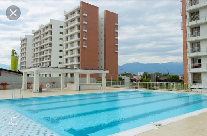 Habitación en Condominio con TV, WiFi, AC. 701