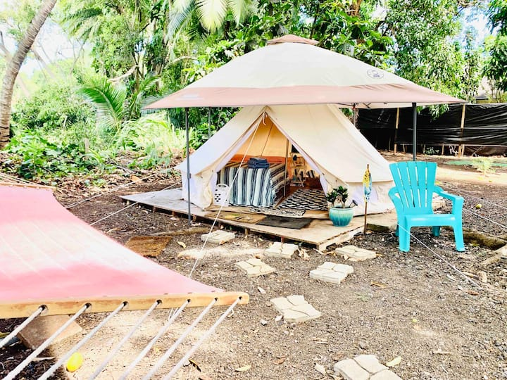 Surf Camp Mermaid Yurt! Spacious & Cozy 30 day min