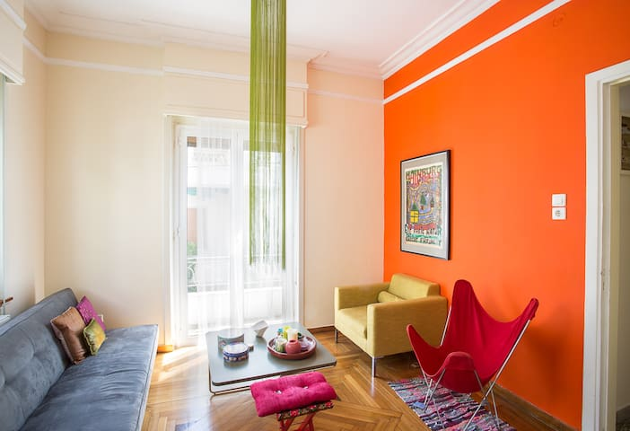 sunny private room in exarcheia - Athina - Appartement
