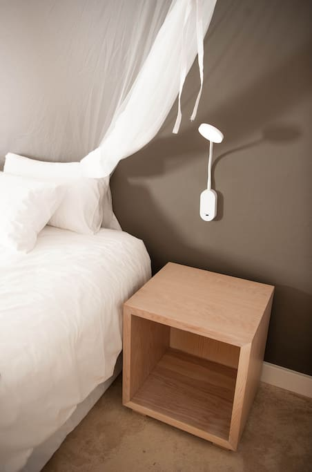 all bedside plugs boast international connections and USB chargers