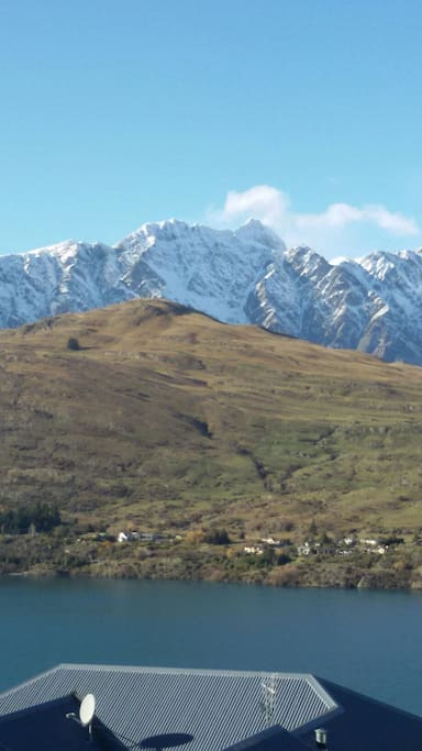 Views of Deer Park Heights and the Remarkables from upstairs