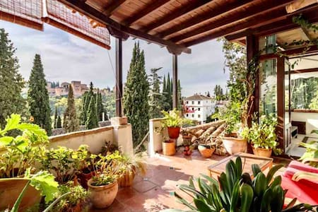 Suite Alhambra with terrace views