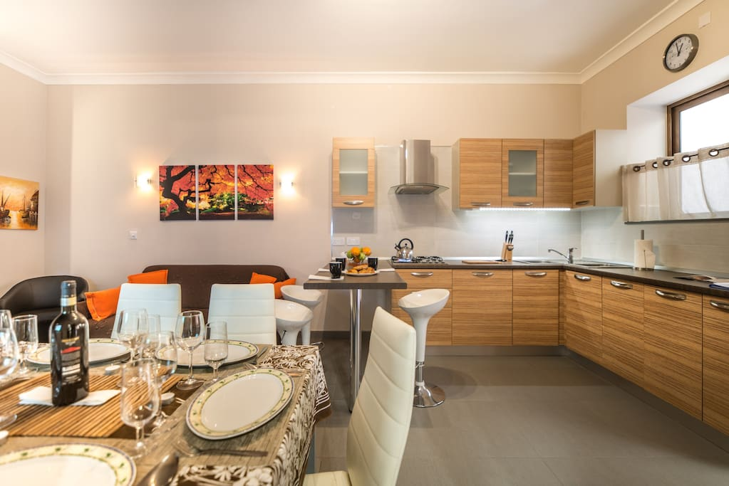 Dining Table + Kitchen