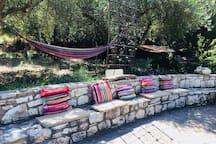 Traditional cushion seats and hammocks