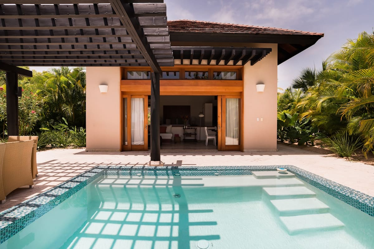 Go Golfing near a Breezy Tropical Bungalow in Punta Cana