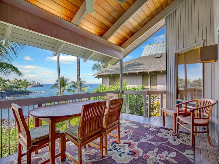 Luxe Family Fit! Great Ocean View, Gourmet Kitchen, Laundry, Lanai, WiFi, TV Kanaloa 3704