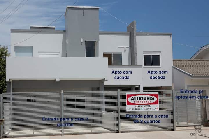 Casa Praia Tramandai 3 quartos ar cond 10 pessoas