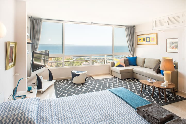 Cozy studio with amazing sea view - Palma - Appartement